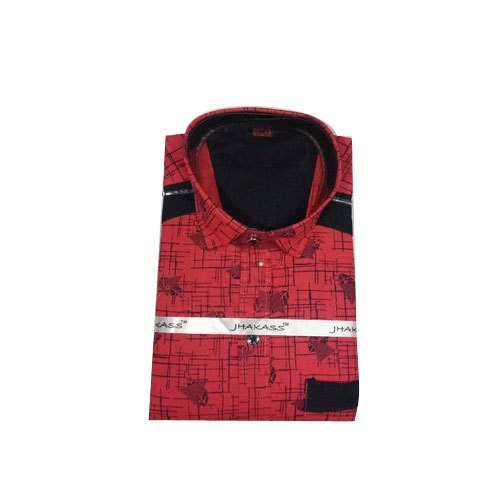 Full Sleeves Printed Kids Designer Party Wear Cotton Shirt, Size: 26-36