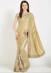Golden Stylish Designer Saree