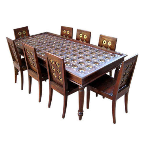 Brown Modern 8 Seater Dining Table Rs 38000 Set Gulista Furniture Id 20374729662
