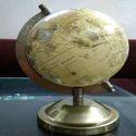 Alsa International Brown / Black And Black World Plastic Globe With Metal Stand