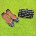 Black Designer Clutches With Matching Jutti