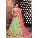Party Wear Stitched Ladies Silk Designer Chaniya Choli, Packaging Type: Packet