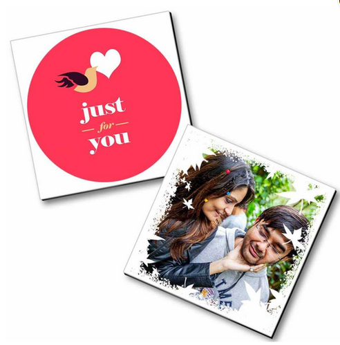 Multi Color Personalized Couple Magnet Birthday Gift
