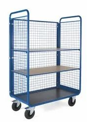 Open Side Shelved Cage Trolley