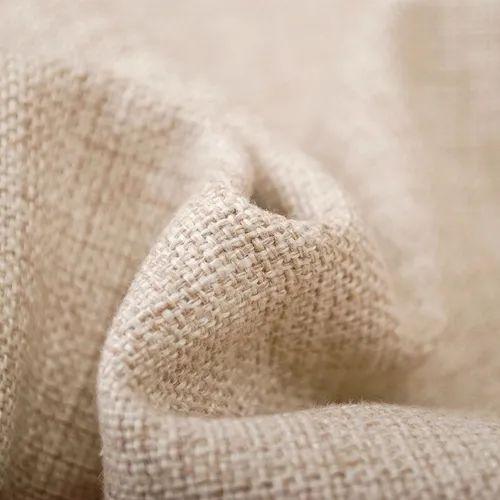 Brown Cotton Linen Fabric, GSM: 200