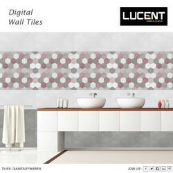 Glossy Lucent Designer Wall Tiles, Size: 30X45 cm