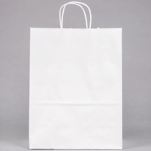 Plain 7X15 Inch White Kraft Paper Bags, For Shopping