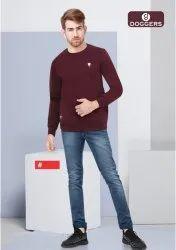 Men's Plain Round Neck Sweat Shirt