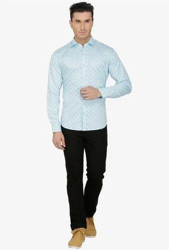 d164cdafdd6b Cotton Sparky Light Blue Printed Slim Fit Casual Shirt, Rs 1045 ...
