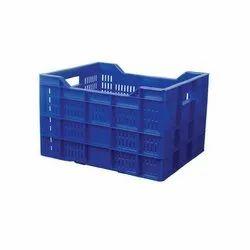 Rectangular Blue Jumbo Plastic Crates