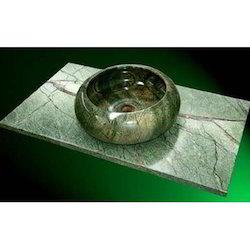 Green Marble Round Kitchen Sink