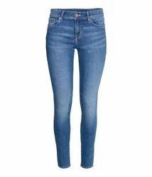 Regular Stretchable Ladies Jeans, Waist Size: 28
