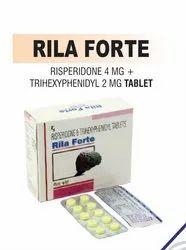 Risperidone 4 Mg & Trihexyphenidyl 2 Mg Tablets