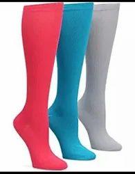 White Cotton Thigh High Socks