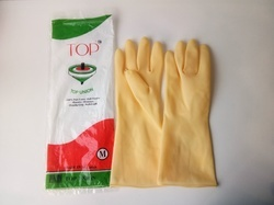 Top Union Single Colour Ganeri Rubber Gloves