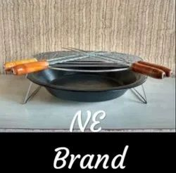 NE Black SS Round Charcoal Barbeque