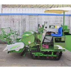 Track Type Mini Combine Harvester Full Feed   Model No-OS-4LZ-1.0A