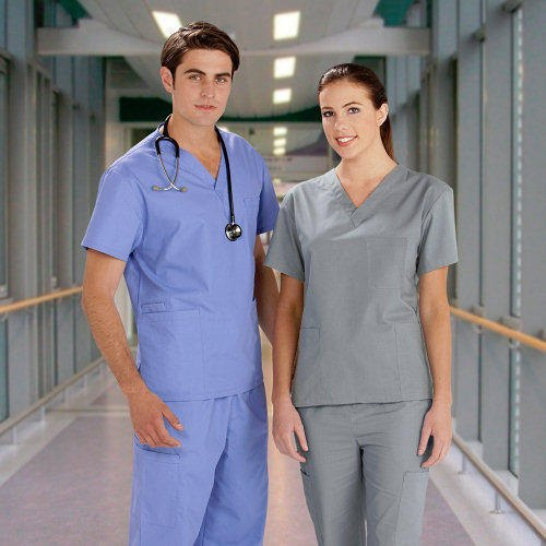 Grey Pure Polyester Medical Clothing Uniform, Size: Xxl, Rs 775 /set | ID:  20653277291