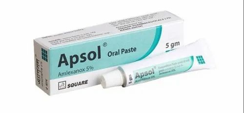 Amlexanox Oral Paste for Clinical, Packaging Type: Tube