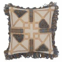 Ethnic Embroidered Cotton Cushion Cover