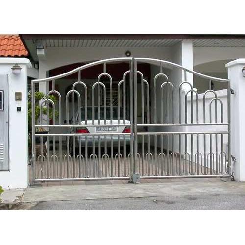 Stainless Steel Modern House Gate Designs: Modern Stainless Steel Gate, Ss Gate, Stainless Steel