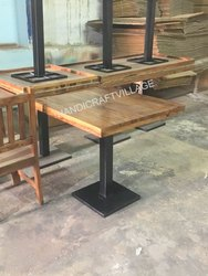 HV 10kgs Wooden Square Table, For Cafe Restro