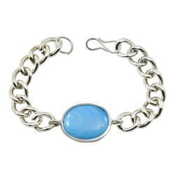Male Silver Bracelet for Men, Size: 24cm