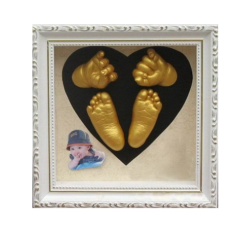 Craft Diy 3d Baby Hand Footprint Kit With Photo Frame