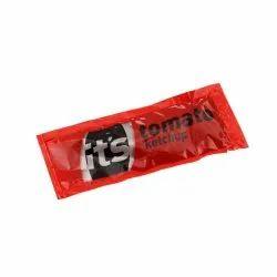 Red Printed Tomato Ketchup Sachets