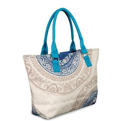 Printed Ladies Canvas Handbag