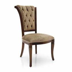 Brown Teak Wood Classic Dining Restaurant Chair
