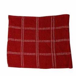 Ladies Maroon Cotton Handkerchief