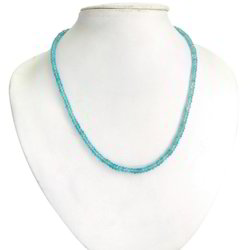 Graceful Prismatic Stone Bead Necklace 216