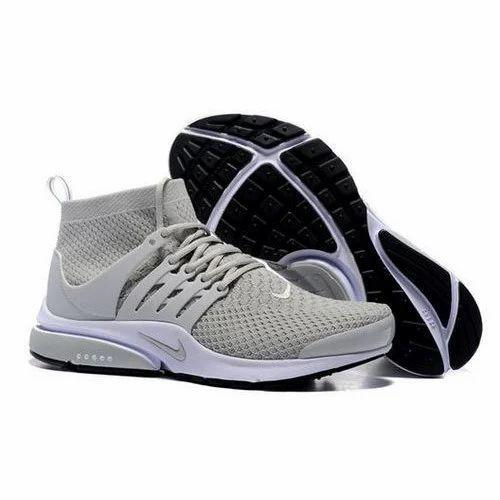 Men Grey & Orange Nike Sports Shoes, ...