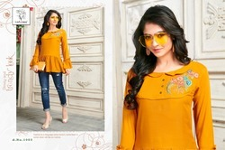 Rayon Party Wear Designer Stylish Embroidered Top