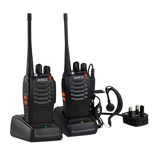 Upto 5 Kmtrs Synic Black Walky Talky, Size: Handy
