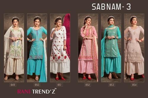2dc40ada99 Cotton Embroidered Designer Sharara Salwar Suits