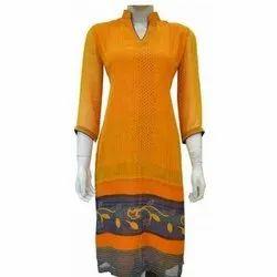 Ladies Printed Silk Kurti