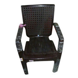 Brown Plastic Rectangle Chair