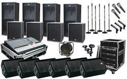 Wirelss And Wire Function/Party Outdoor Sound System Rental Service