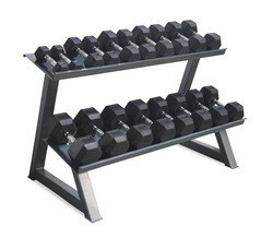 Gamma Fitness 4 Stack Weight Lifting Dumbbell Rack
