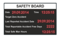 Compucare Safety Static Led Display Board