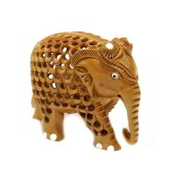 Small Wooden Elephant