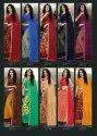 Kodas Golden Jhumke-20 Heavy Dani Printed With Border Cotton Saree Catalog