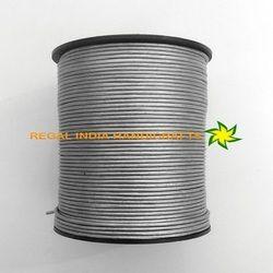 Metallic Silver Round Leather Cords