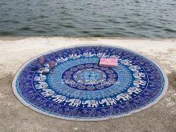 Mandala Printed Beach Throw