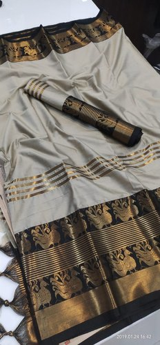 Cotton Aura Silk Saree with Blouse