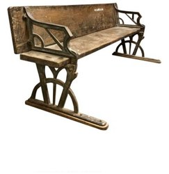 DIF-1417 Cast Iron Industrial Garden Bench
