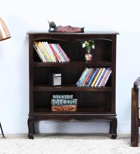 Furniselan Solid Wood Chestnut Finish Bookshelf Size Width 335 Depth 115 Height