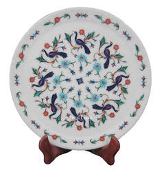 Marble Inlay Round Plate